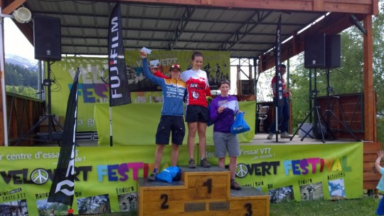 podium dames dh marathon vvf14