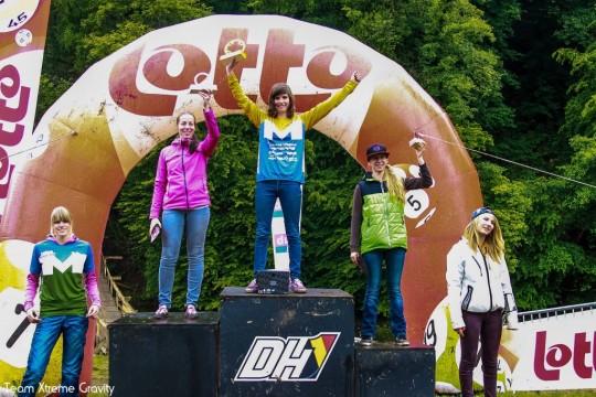 podium dames dh1 maboge 2